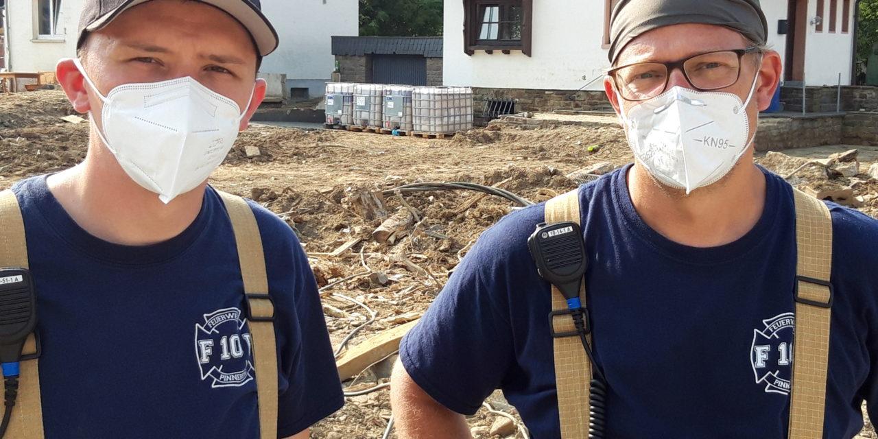 Unterstützung im Katastrophengebiet im Ahrtal (Rheinland-Pfalz) – Personaltausch